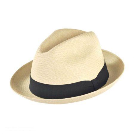 Jaxon Hats Panama Straw Trilby Fedora Hat