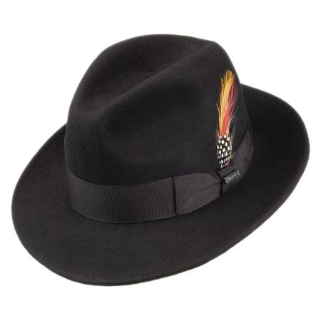 Pinch Crown Crushable Wool Felt Fedora Hat alternate view 1