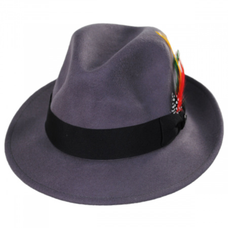 Pinch Crown Crushable Wool Felt Fedora Hat alternate view 8