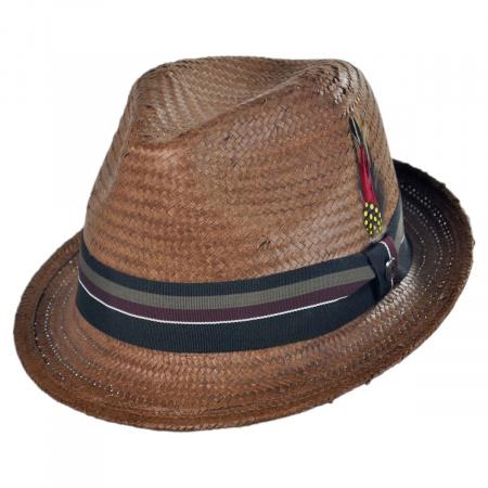 Jaxon Hats Tribeca Toyo Straw Fedora Hat