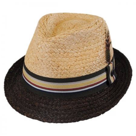 Trinidad Raffia Straw Trilby Fedora Hat alternate view 1