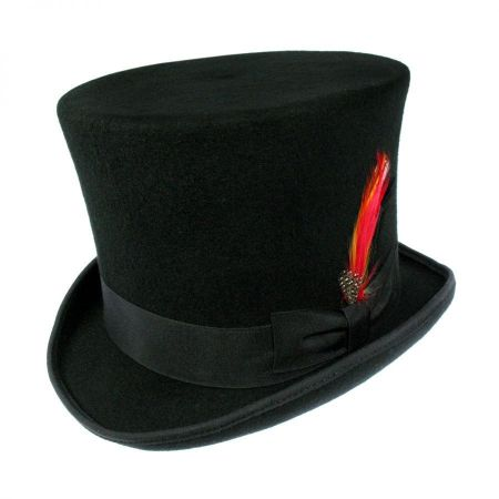 Jaxon Hats Victorian Wool Felt Top Hat