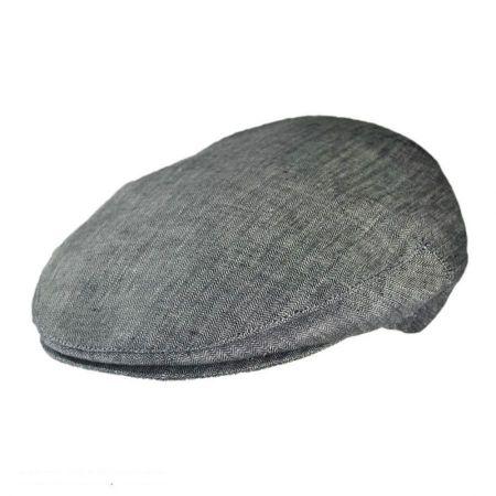 Jaxon Hats - Made in Italy Piccolo Herringbone Linen Ivy Cap