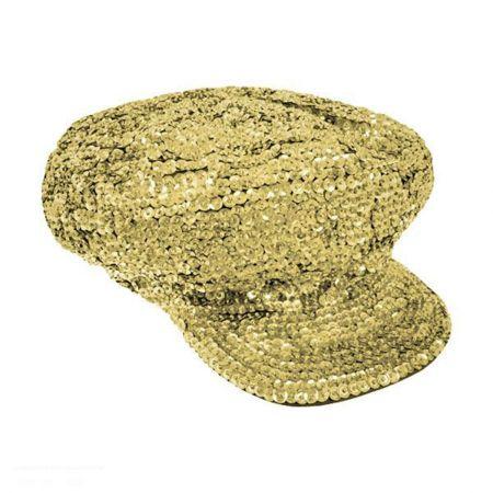 Gold Sequin Brando Cap