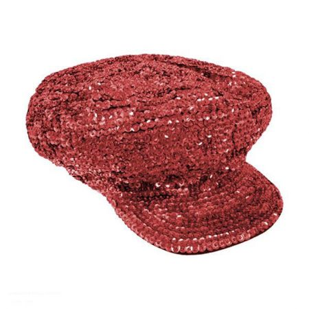 Red Sequin Brando Cap