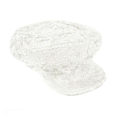Sequin Brando Cap - White