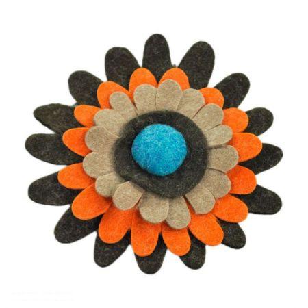 Jeanne Simmons Felt Daisy Hat Pin