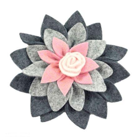 Jeanne Simmons Felt Flower Hat Clip