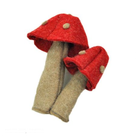 Jeanne Simmons Felt Mushroom Hat Clip Pin Accessory