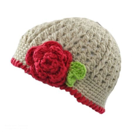 Toddlers' Flower Knit Beanie Hat alternate view 1