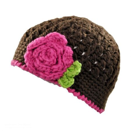 Toddlers' Flower Knit Beanie Hat alternate view 3