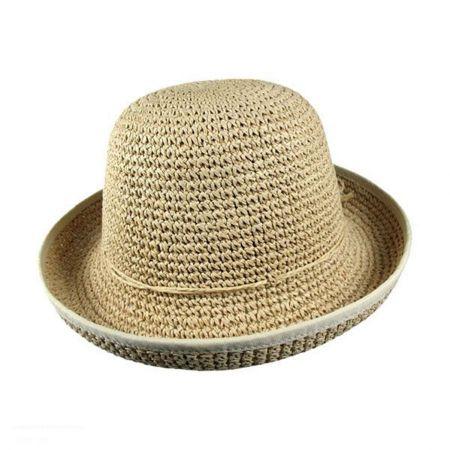Jeanne Simmons Kids' Roller Toyo Straw Sun Hat