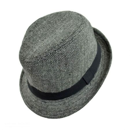 Jeanne Simmons Herringbone Fedora Hat - Child