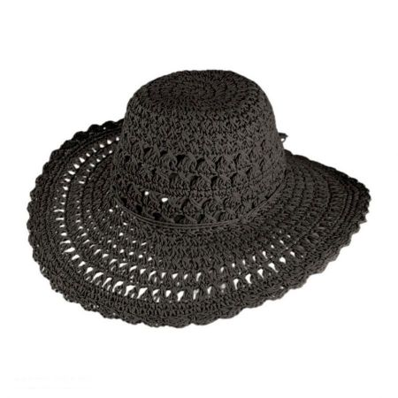 Lace Floppy Straw Hat