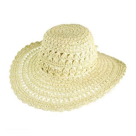 Lace Floppy Straw Hat