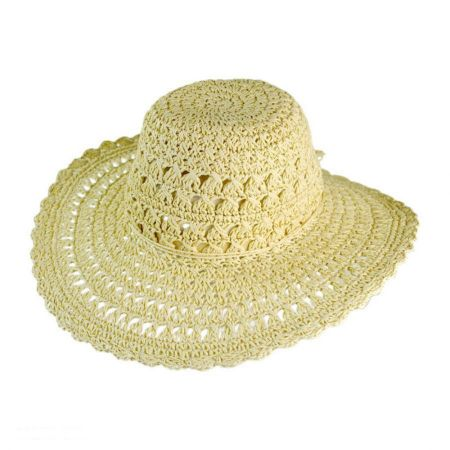 Jeanne Simmons Lace Floppy Straw Hat