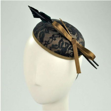 Jeanne Simmons Lace Pillbox Fascinator Hat