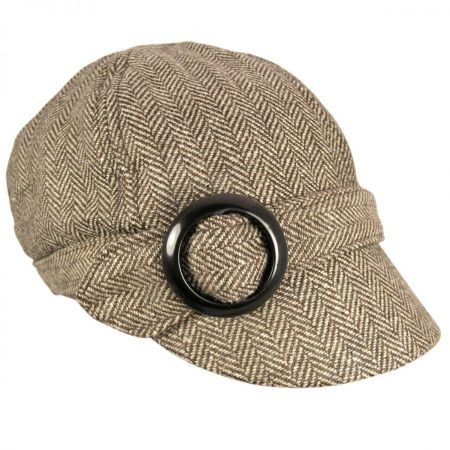 Muffy Herringbone Cap - Brown