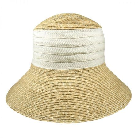 Jeanne Simmons Packable Wheat Straw Sun Hat