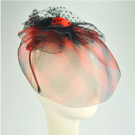 Jeanne Simmons Plaid Mini Hat with Veil