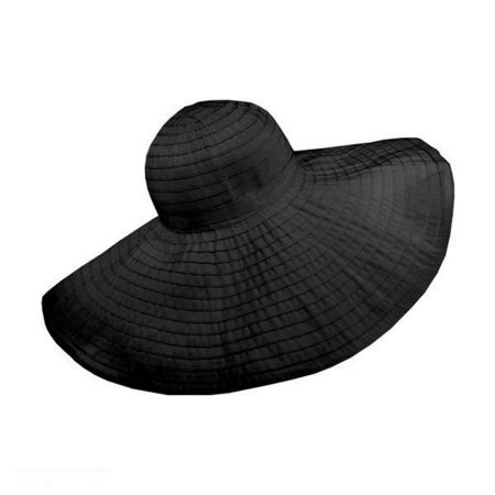 Jeanne Simmons Pool 8-Inch Ribbon Wide Brim Hat