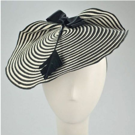 Striped Bow and Arrow Fascinator with Hair Clip