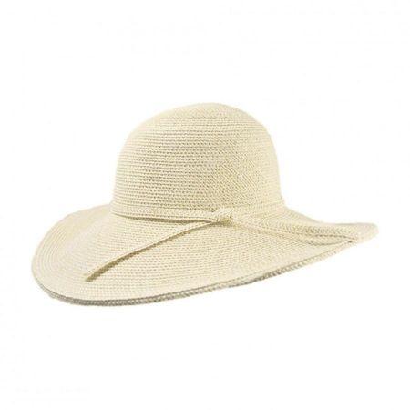 Tweed Toyo Straw Floppy Sun Hat alternate view 6