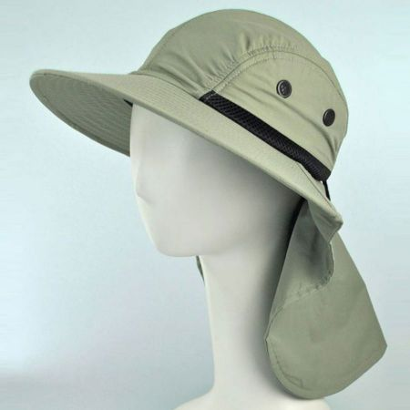 Large Bill Flap Cap with Drawstring