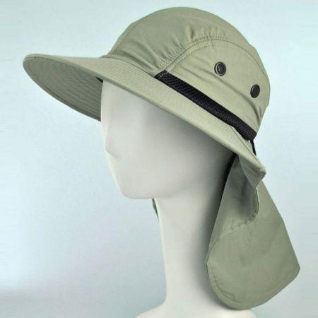 UV Protection Large Bill Flap Cap
