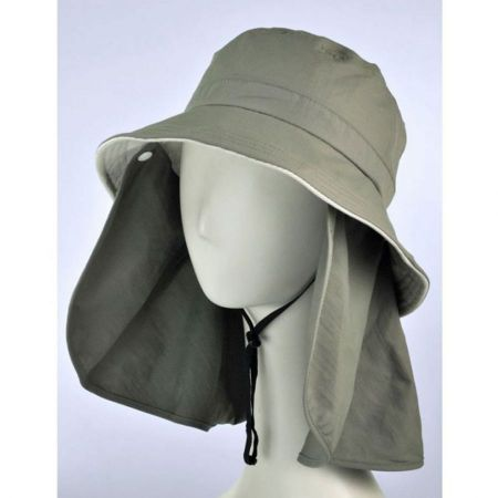 UV Protection Detachable Flap Bucket Hat alternate view 1