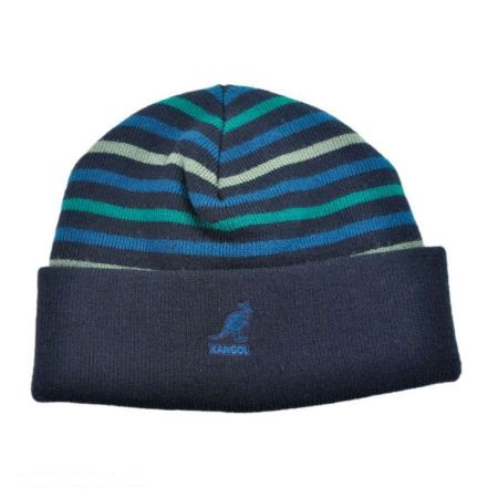 Kangol Stripe Pull On Beanie Hat