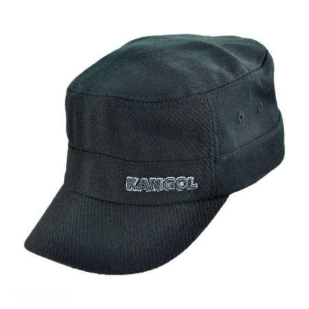 Kangol Textured Wool Army Cadet Cap - Black