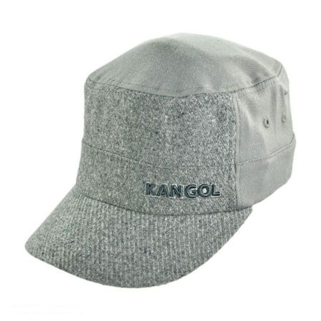 Kangol Textured Wool Army Cadet Cap - Grey