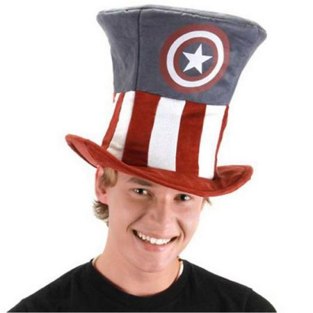Captain America Mad Hatter Top Hat