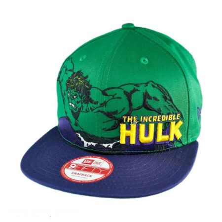 New Era Marvel Comics Hulk Heroic Stance 9FIFTY Snapback Baseball Cap