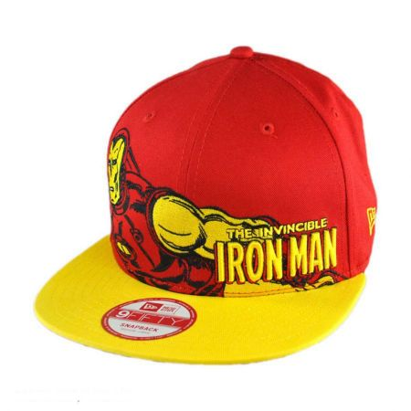 New Era Marvel Comics Iron Man Heroic Stance 9FIFTY Snapback Baseball Cap