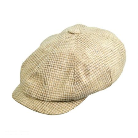 Mayser Hats Houndstooth Wool and Silk Ivy Cap