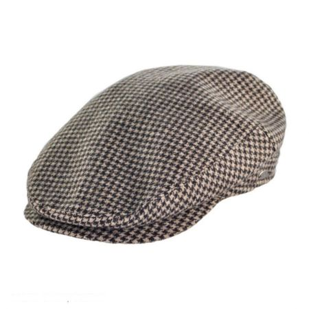 Mayser Hats Houndstooth Wool and Cashmere Earflap Ivy Cap