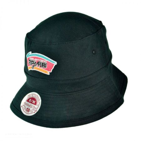 Mitchell & Ness San Antonio Spurs NBA Logo Bucket Hat