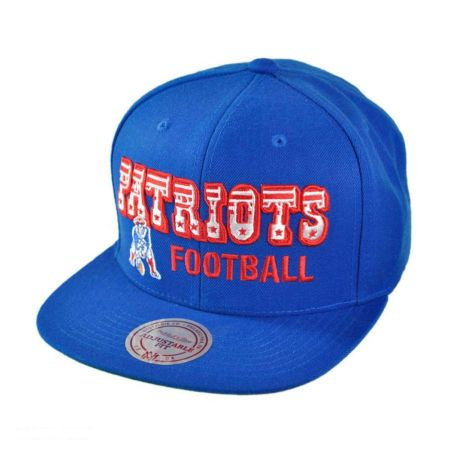 Mitchell & Ness New England Patriots NFL Blocker Snapback Baseball Cap