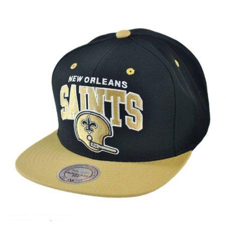 Mitchell & Ness New Orleans Saints NFL Helmet Snapback Baseball Cap