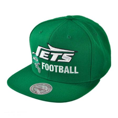 Mitchell & Ness New York Jets NFL Blocker Snapback Baseball Cap