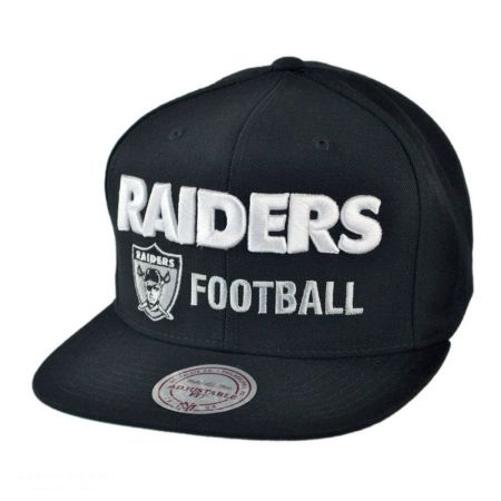 Mitchell & Ness Oakland Raiders NFL Blocker Snapback Baseball Cap