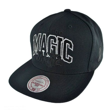 Mitchell & Ness Orlando Magic NBA Blackout Snapback Baseball Cap