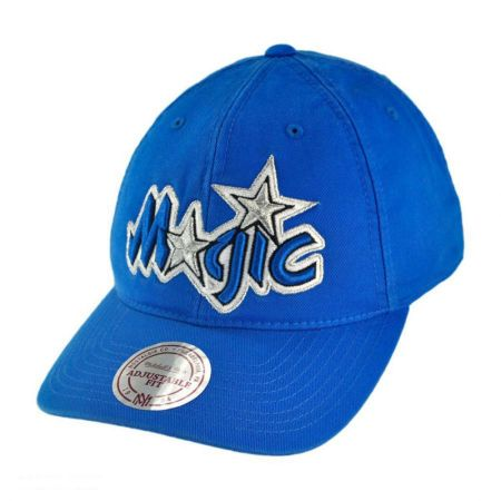 Mitchell & Ness Orlando Magic NBA Vintage Slouch Leather Strapback Baseball Cap