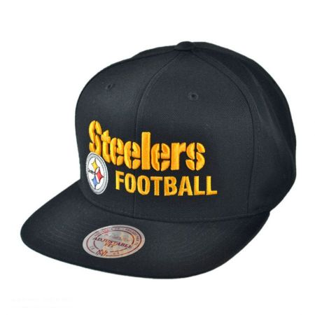 Mitchell & Ness Pittsburgh Steelers NFL Blocker Snapback Baseball Cap