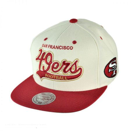 Mitchell & Ness Mitchell & Ness - San Francisco 49ers NFL Throwback Script Tailsweeper Snapback Baseball Cap