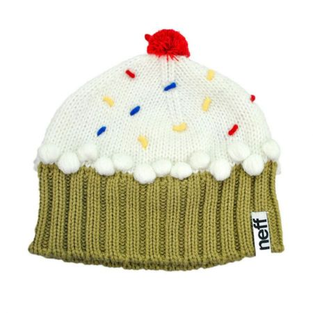 Cupcake Knit Beanie Hat alternate view 5