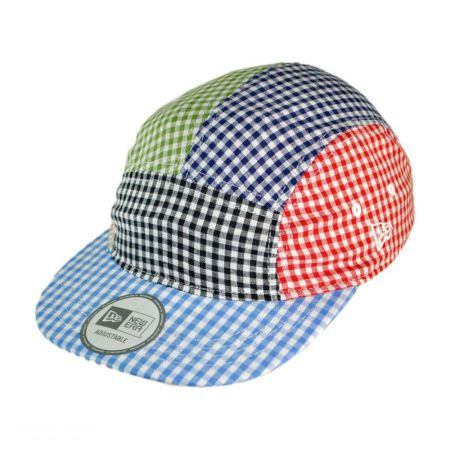 Camper Check 5 Panel Strapback Baseball Cap