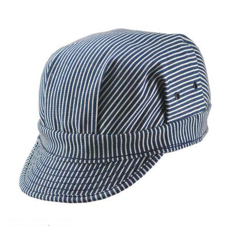 New York Hat Company Striped Cotton Engineer Cap
